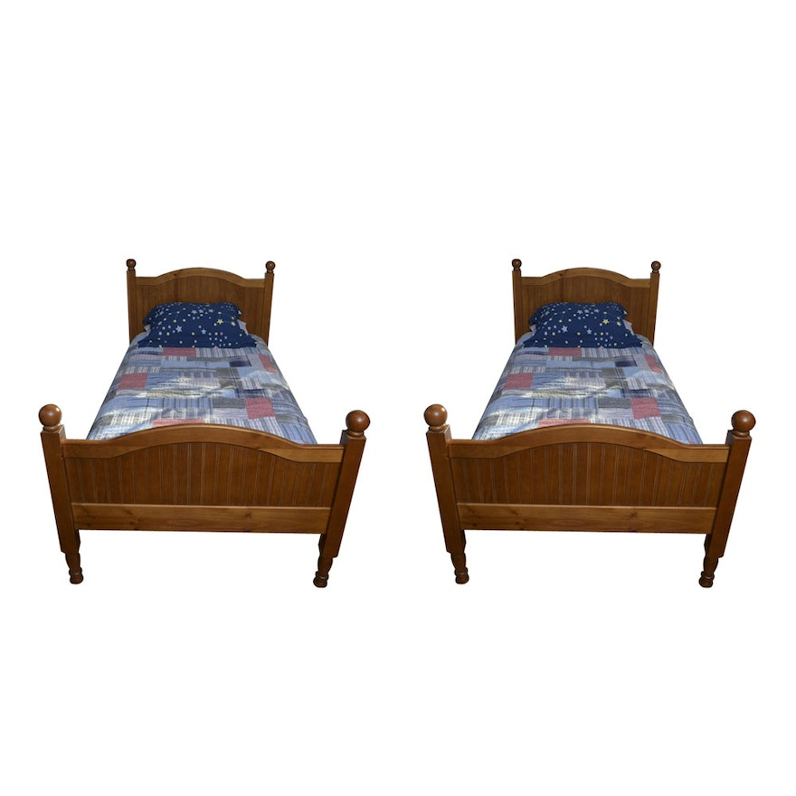 Pair Of Twin Pottery Barn Bunk Bed Frames Ebth