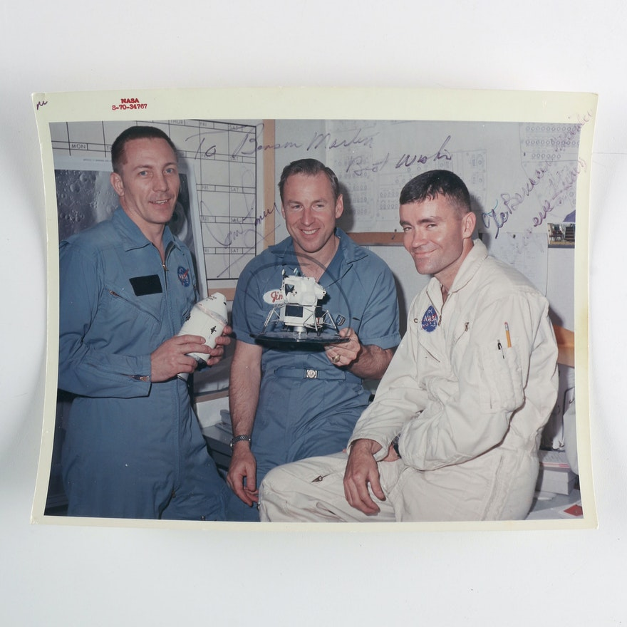 Apollo 13 Crew Phototgraph Signed by James Loveall