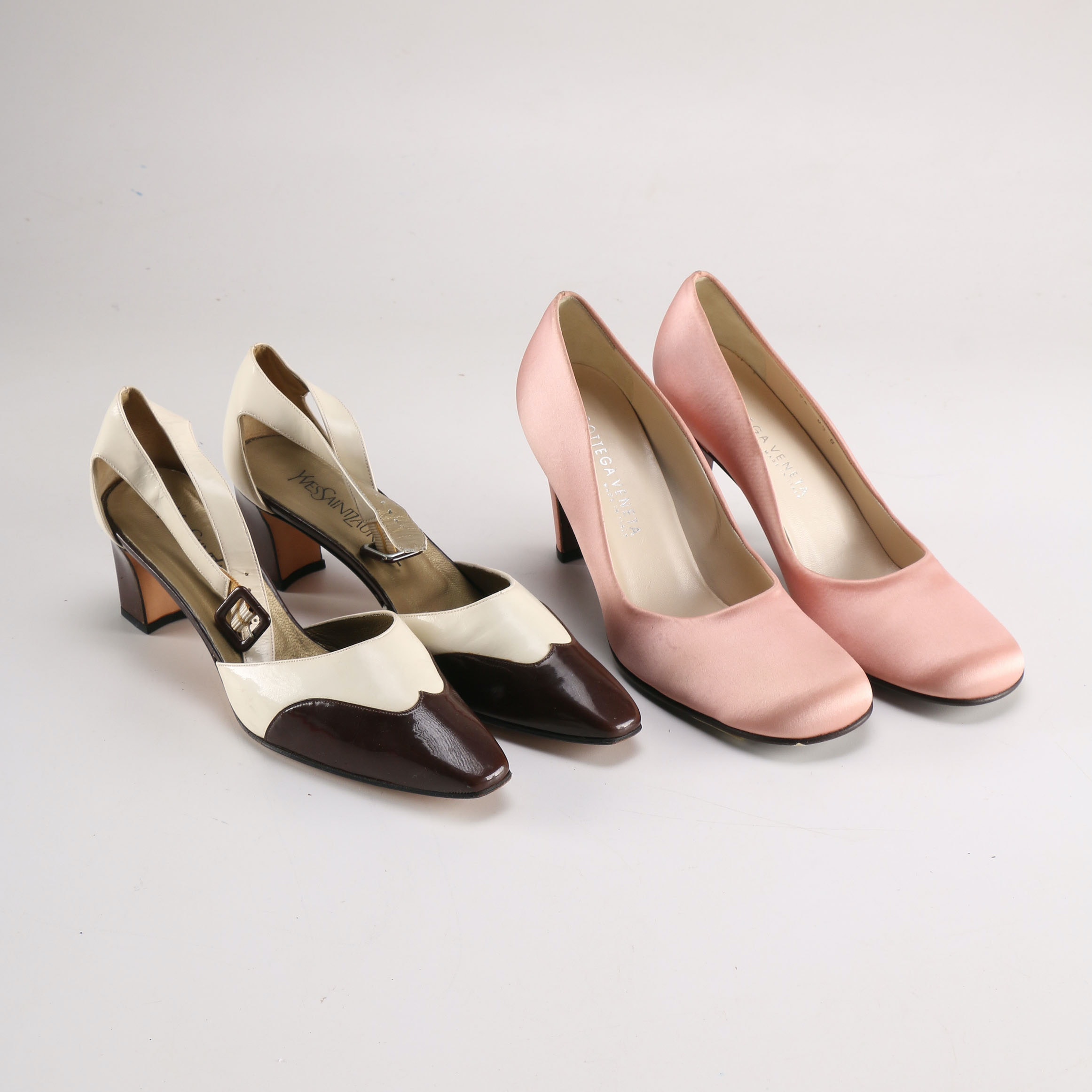 Vintage Yves Saint Laurent and Bottega Veneta Women's Pumps