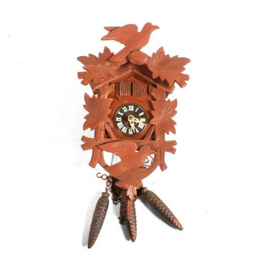 Vintage german wooden cuckoo clock ebth - Wooden cuckoo clocks ...
