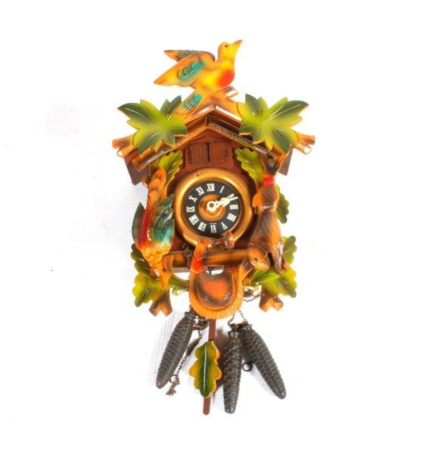 Vintage german schmeckerbecher wooden cuckoo clock ebth - Wooden cuckoo clocks ...