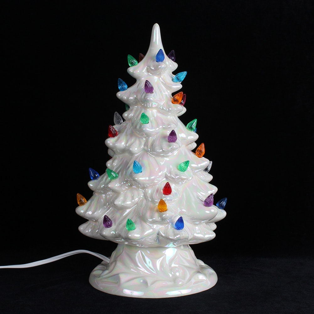 Ceramic Lighted Christmas Tree