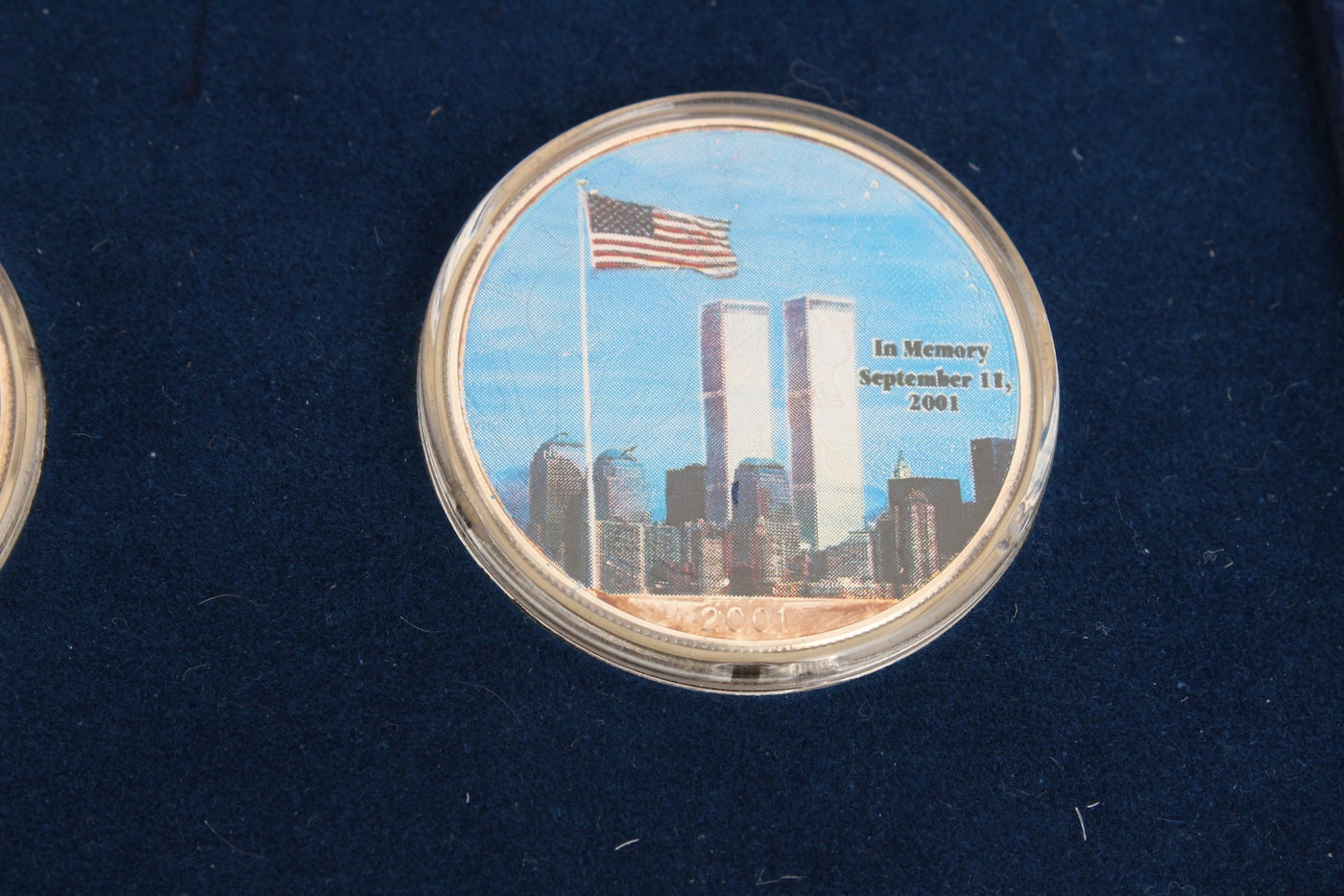 2001 Colorized 9 11 Commemorative Silver Eagle Dollar Set