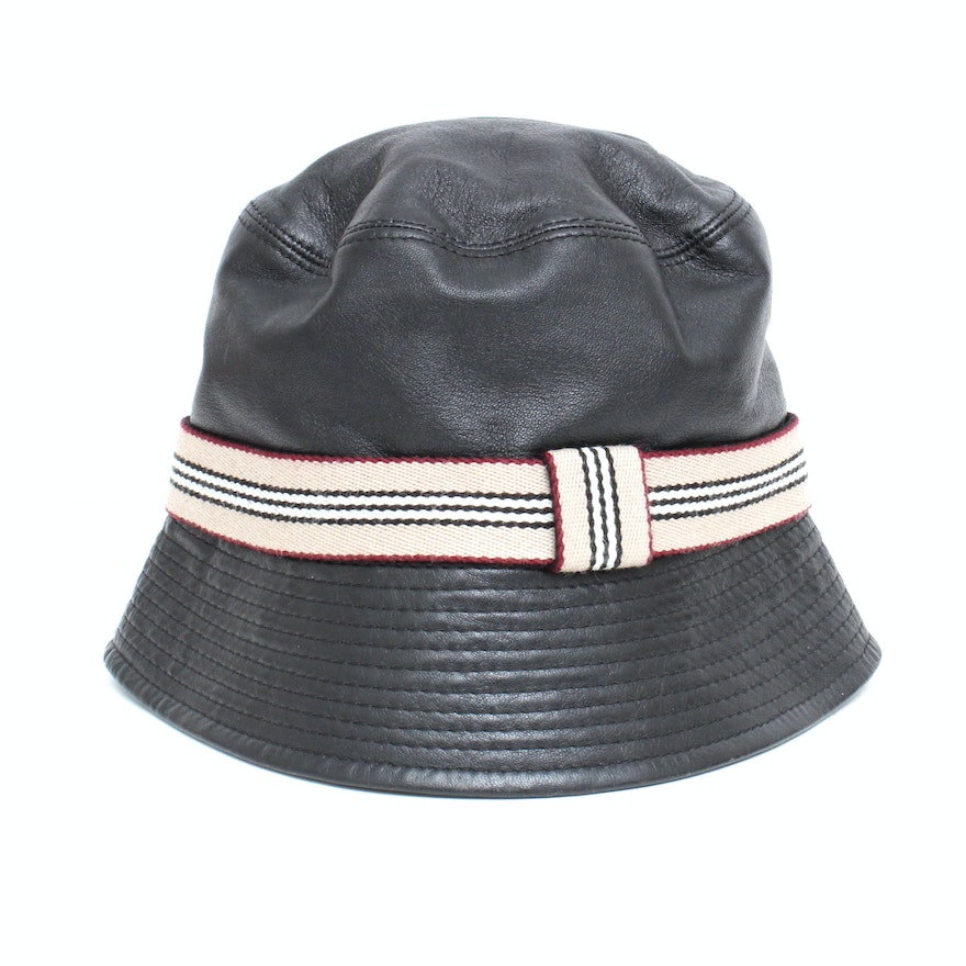 Burberry Leather Hat   EBTH c20fa09746b