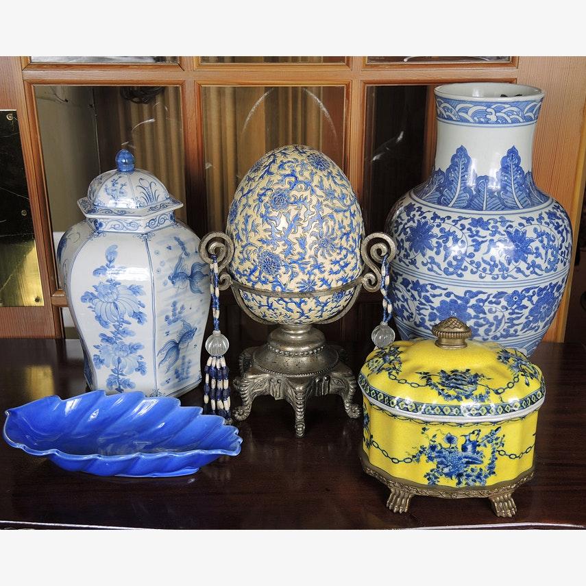 Blue Decorative Porcelain Items
