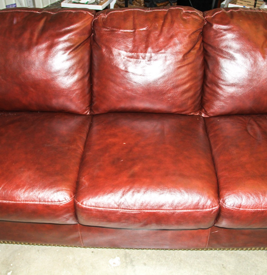 Divani chateau d ax leather sofa - Brown Divani Chateau D Ax Leather Couch