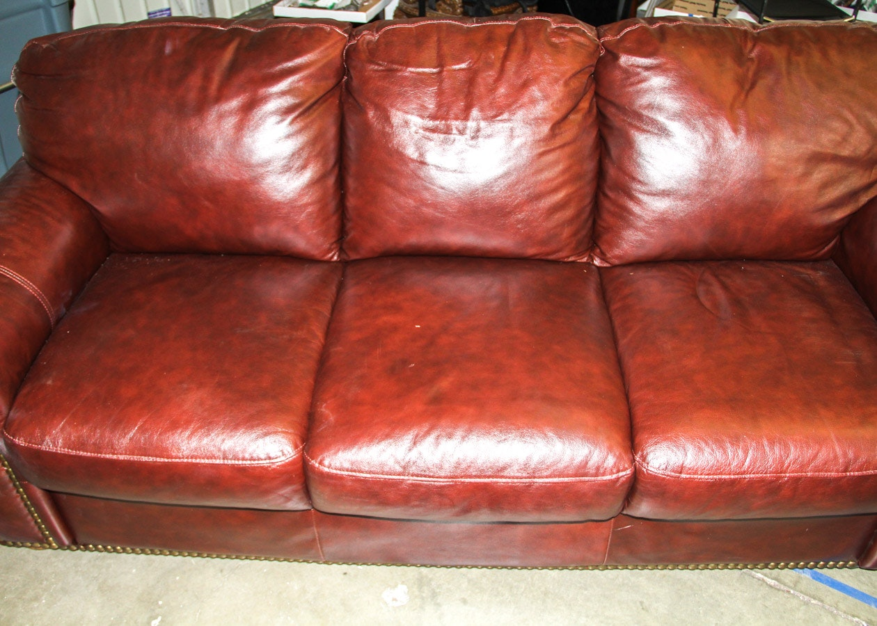 Brown Divani Chateau Du0027Ax Leather Couch ...