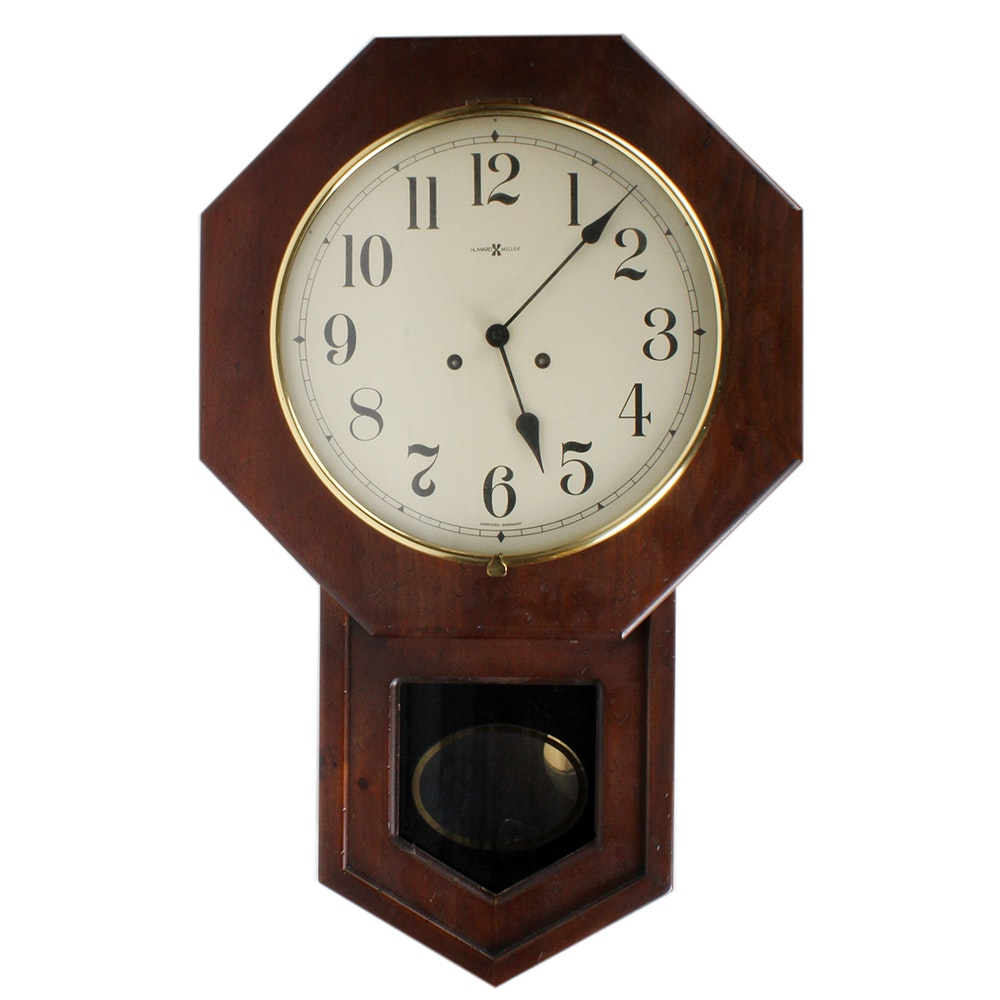 Vintage Howard Miller Regulator Wall Clock : EBTH