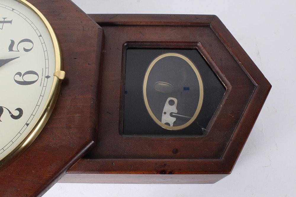 Vintage Howard Miller Regulator Wall Clock : EBTH