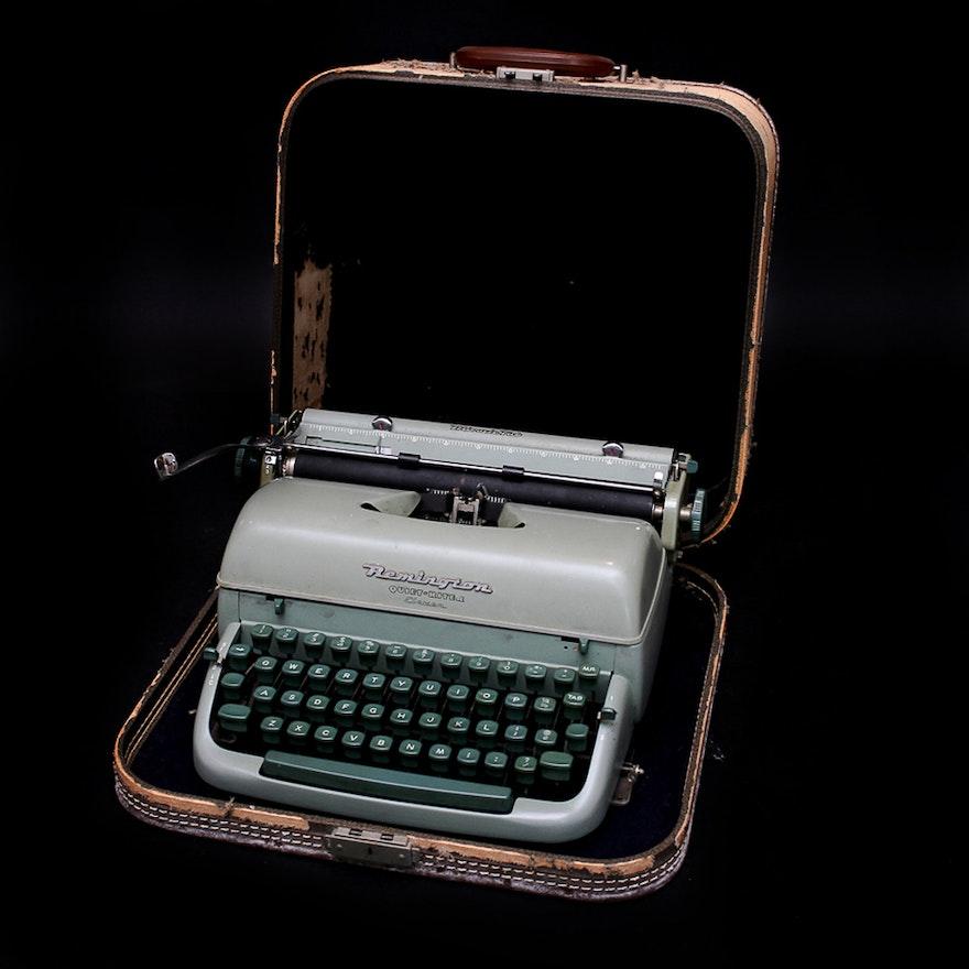 Vintage Remington Quiet-Riter Eleven Portable Typewriter