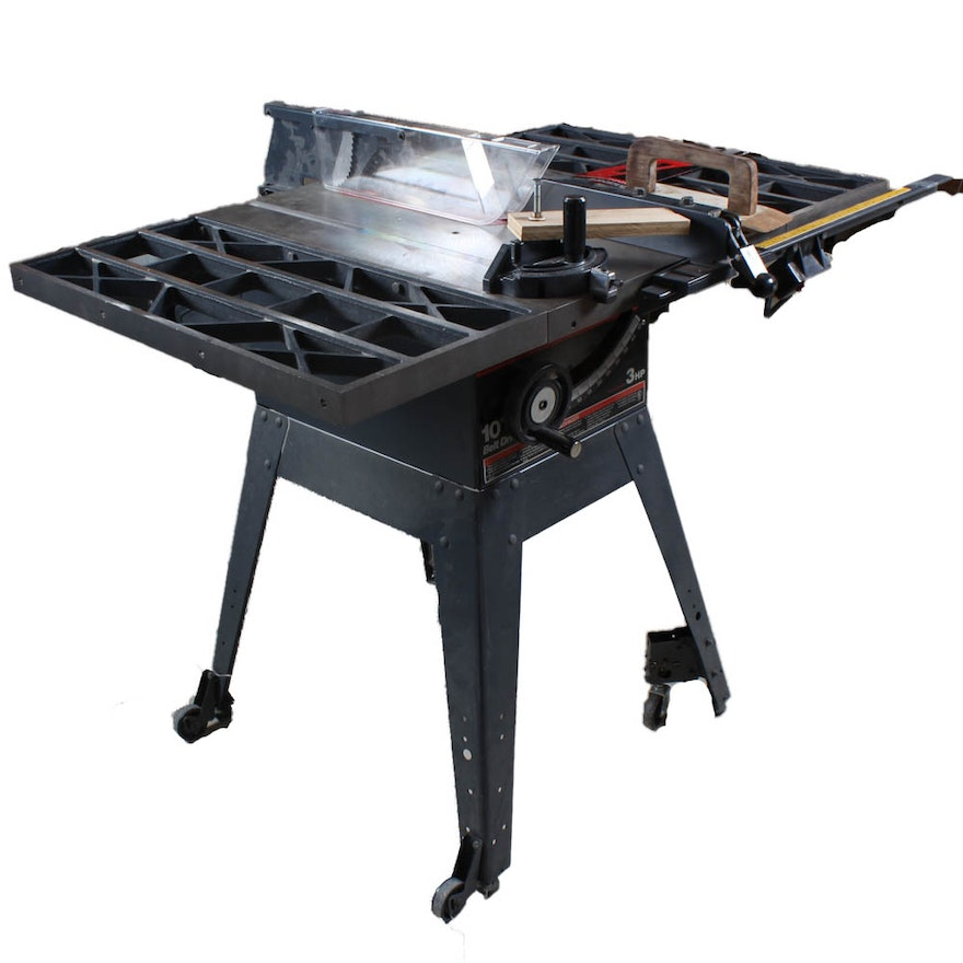 sears craftsman 10 inch belt drive 3 hp table saw with stand - Craftsman Garden Decor