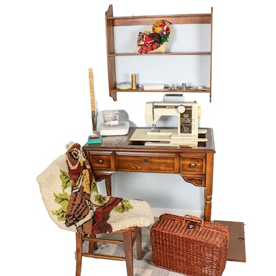 Sew and serge dual sewing machine ebth for Sewing and craft supplies