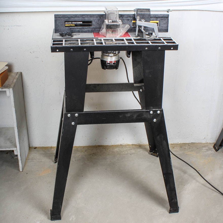 Sears craftsman router with router table and stand ebth for How to make a router table stand