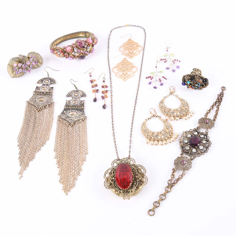 vintage inspired costume jewelry collection ebth