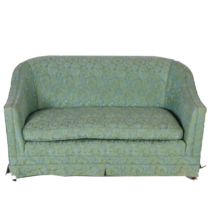Vintage Green Apartment Sofa Ebth