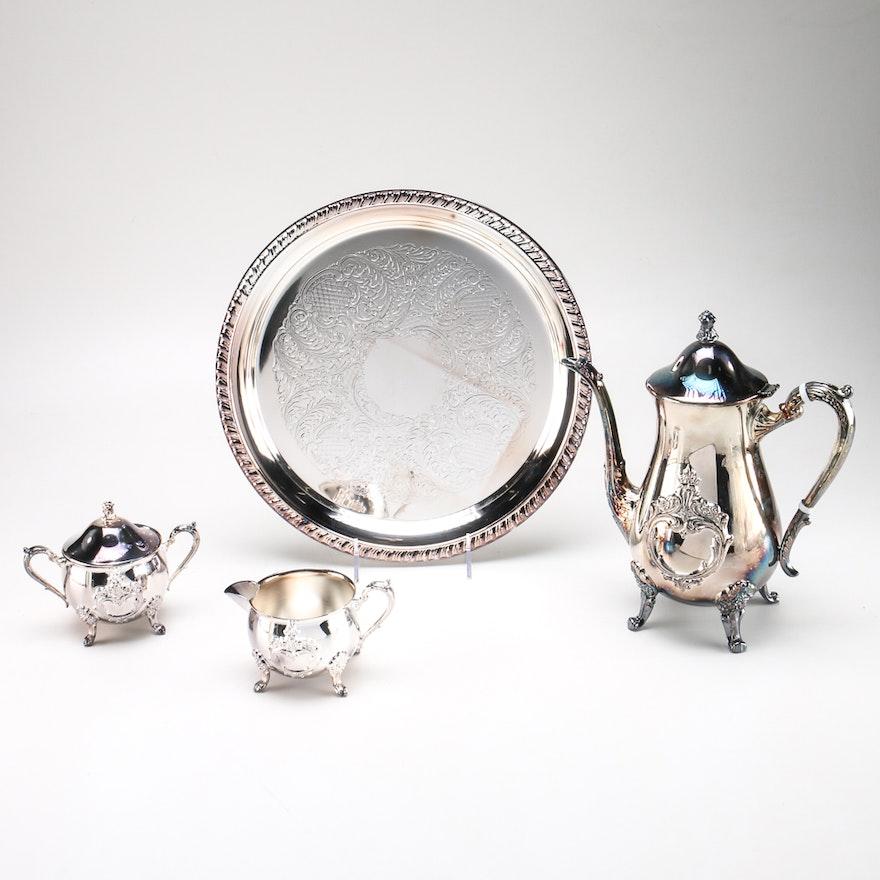 Leonard Silver Plated Coffee Set : EBTH