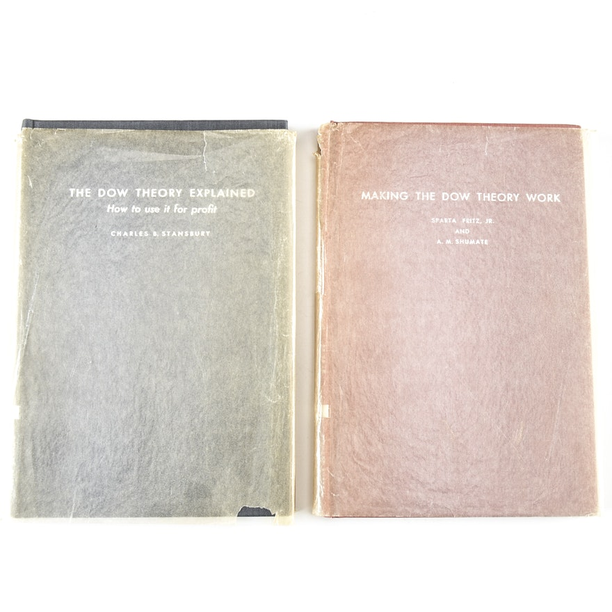 Pair of Books on Dow Theory - First Editions