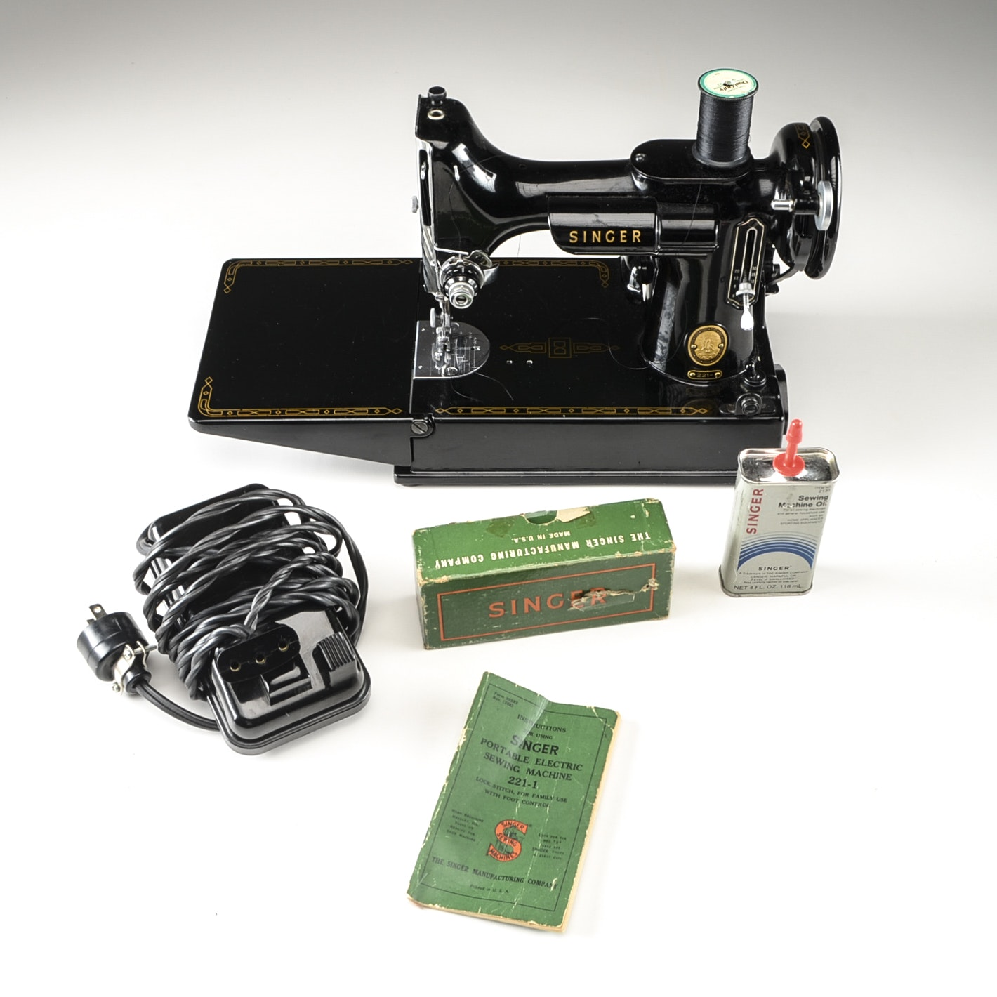 singer portable sewing machine 221 1