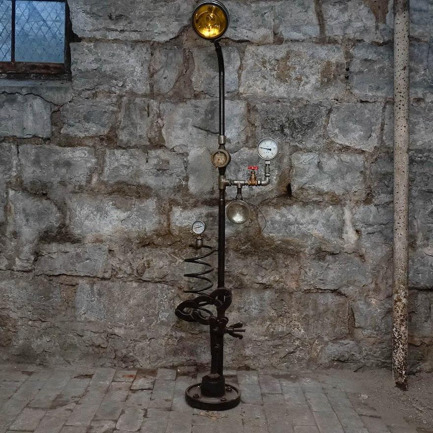 Unique Steampunk Floor Lamp : EBTH