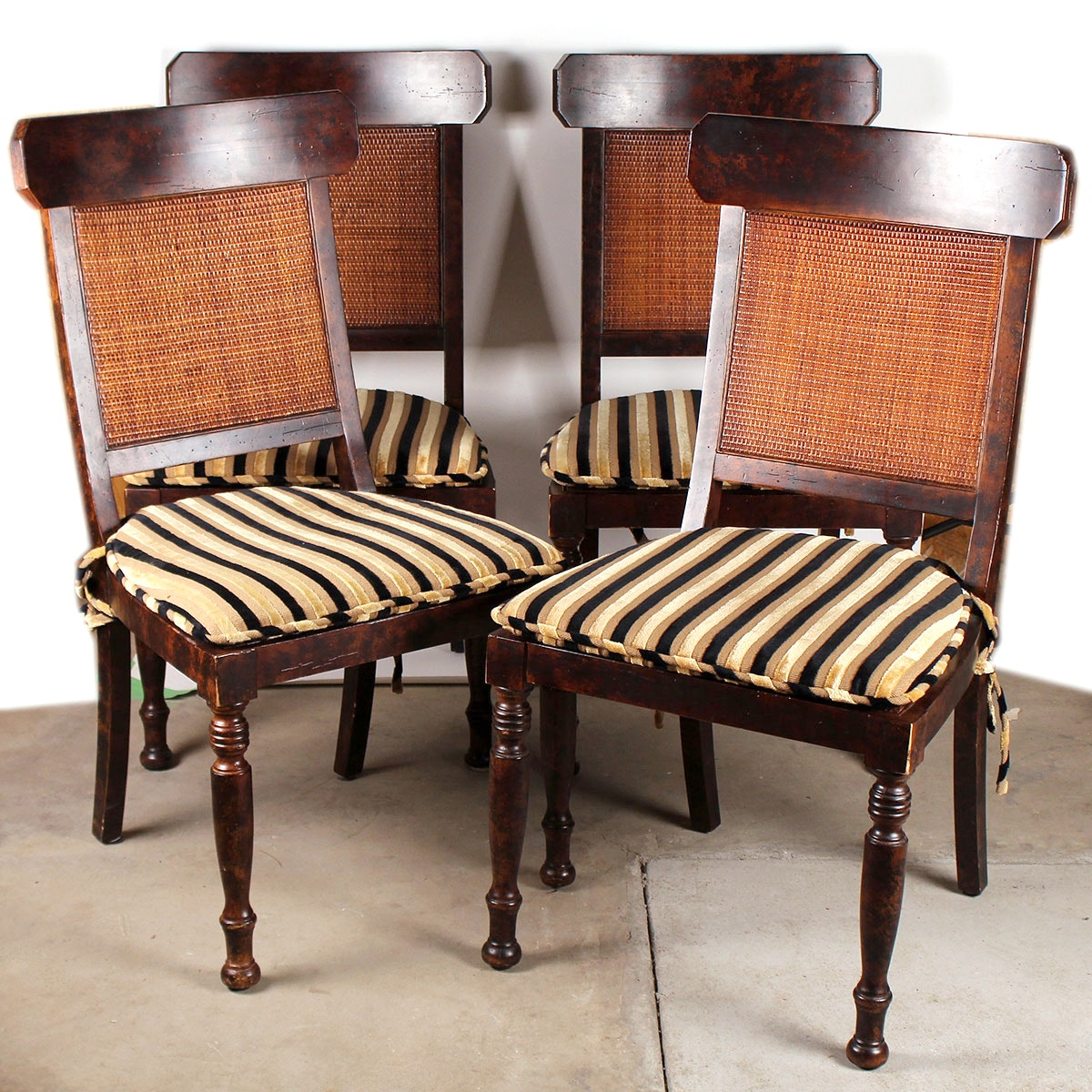 Milling Road Regency Style Dining Chairs By Baker ...