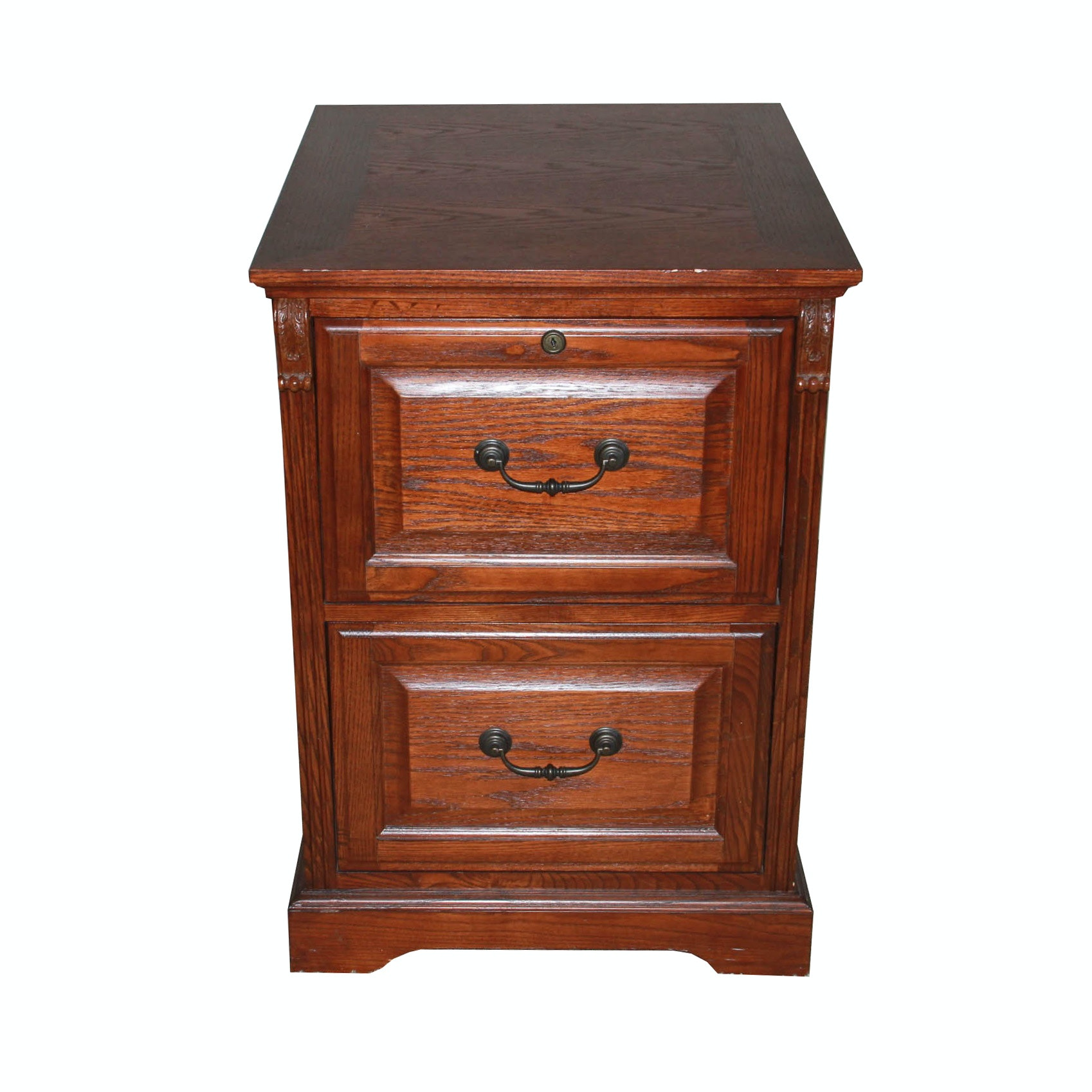 Whalen Two Drawer Mahogany File Cabinet ...