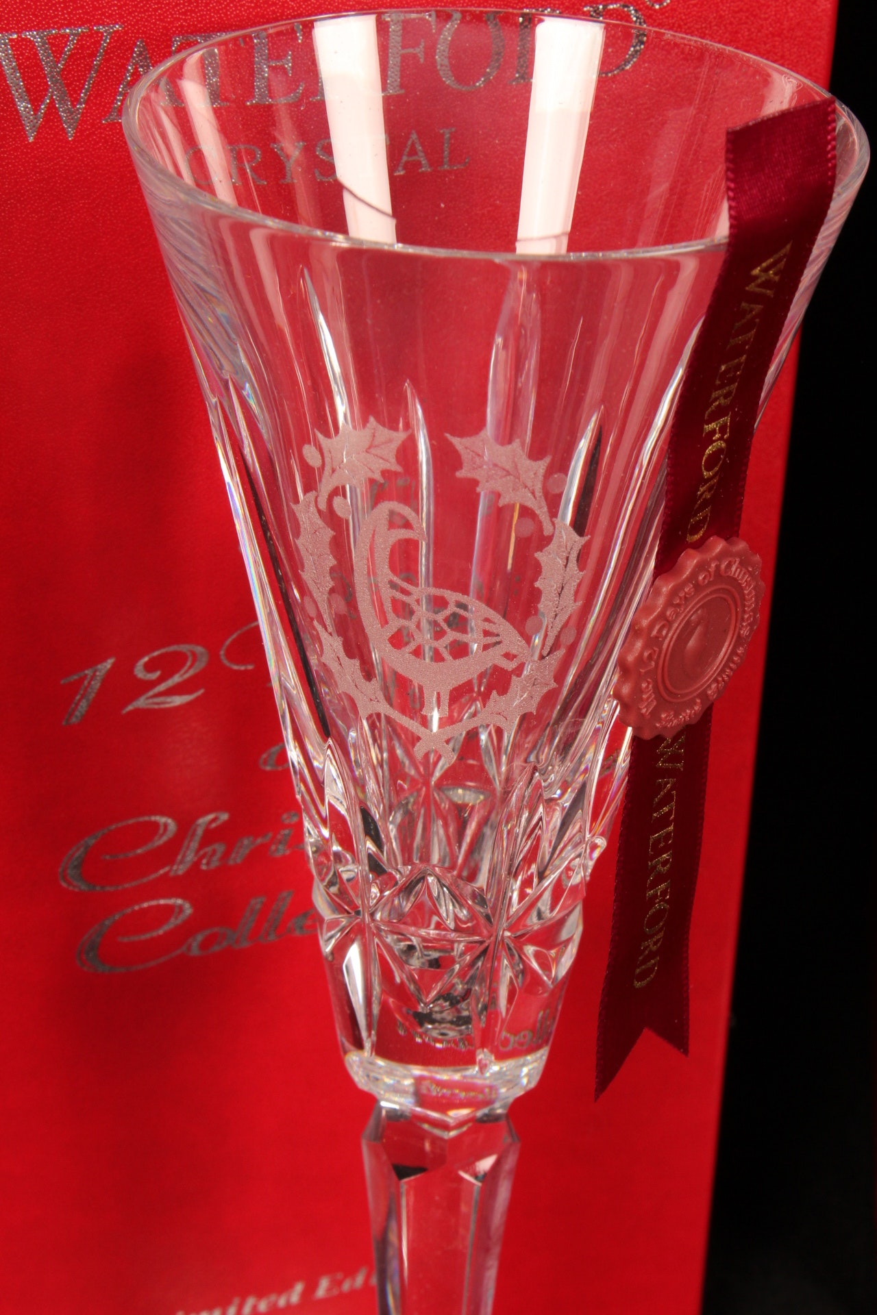 Waterford 12 Days Of Christmas Champagne Flutes