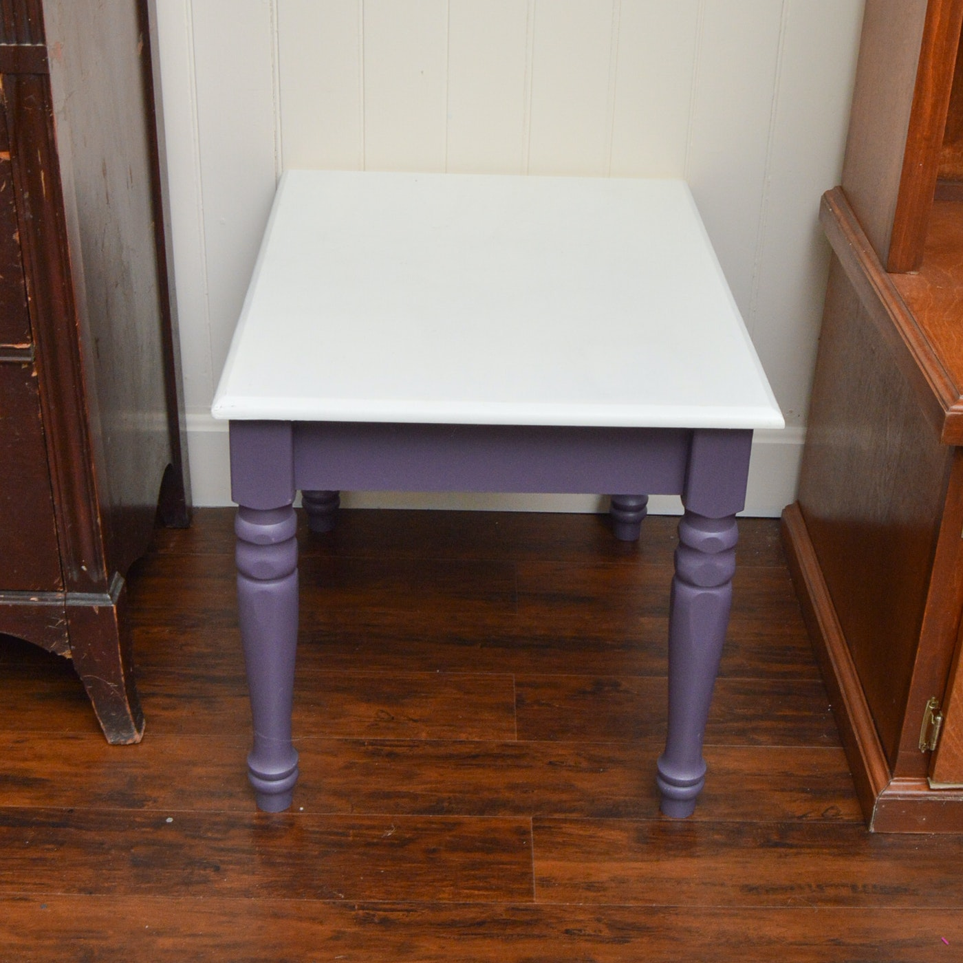 White and purple end table ebth for Transmutation table 85 items