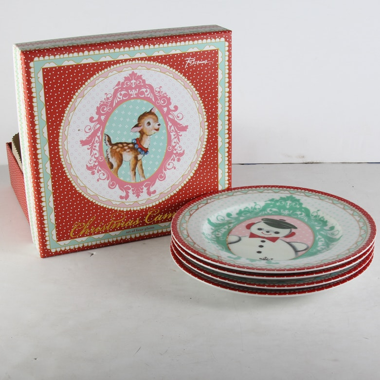 Set of Four Rosanna  Christmas Cameos  ... : rosanna dinnerware - pezcame.com