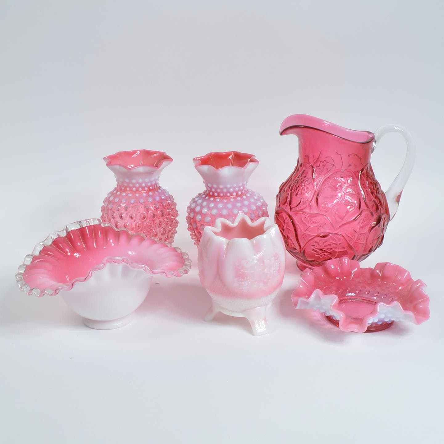 Decorative Pink Glass