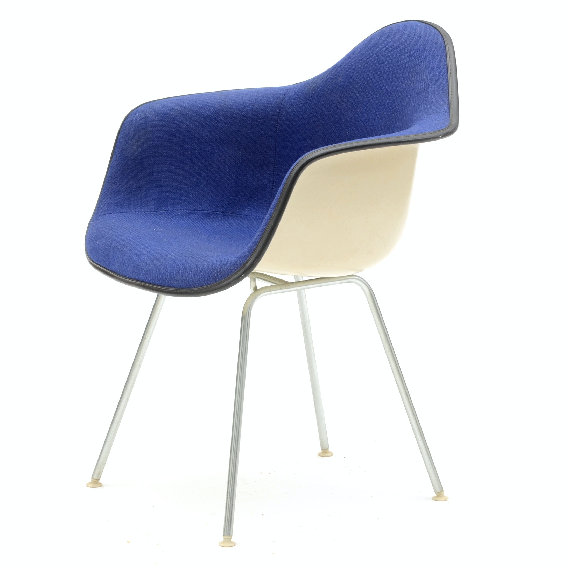 Vintage Eames Upholstered Shell Armchair By Herman Miller