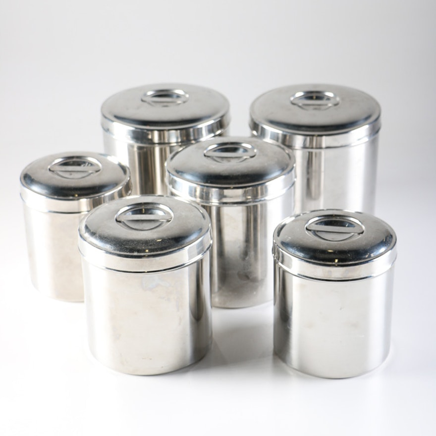 Sharda Stainless Steel Kitchen Canisters