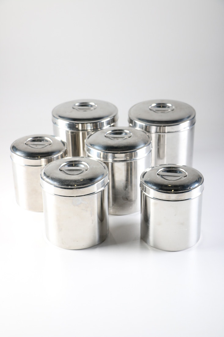 Sharda Stainless Steel Kitchen Canisters ...