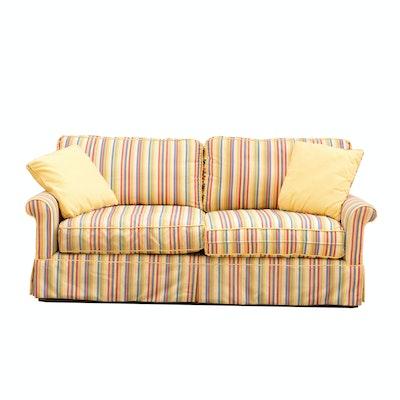 Vintage 1960 39 S Red Naugahyde Sofa Ebth