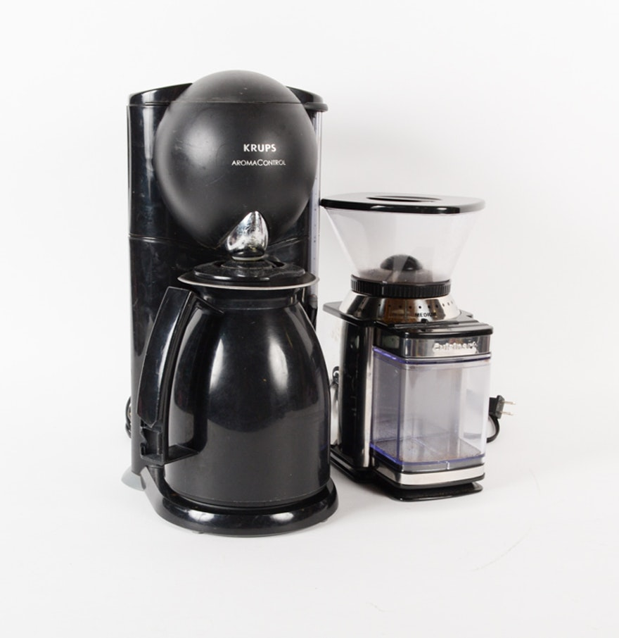 Cuisinart Coffee Maker Electrical Problems : Krups Coffee Maker and Cuisinart Grinder : EBTH