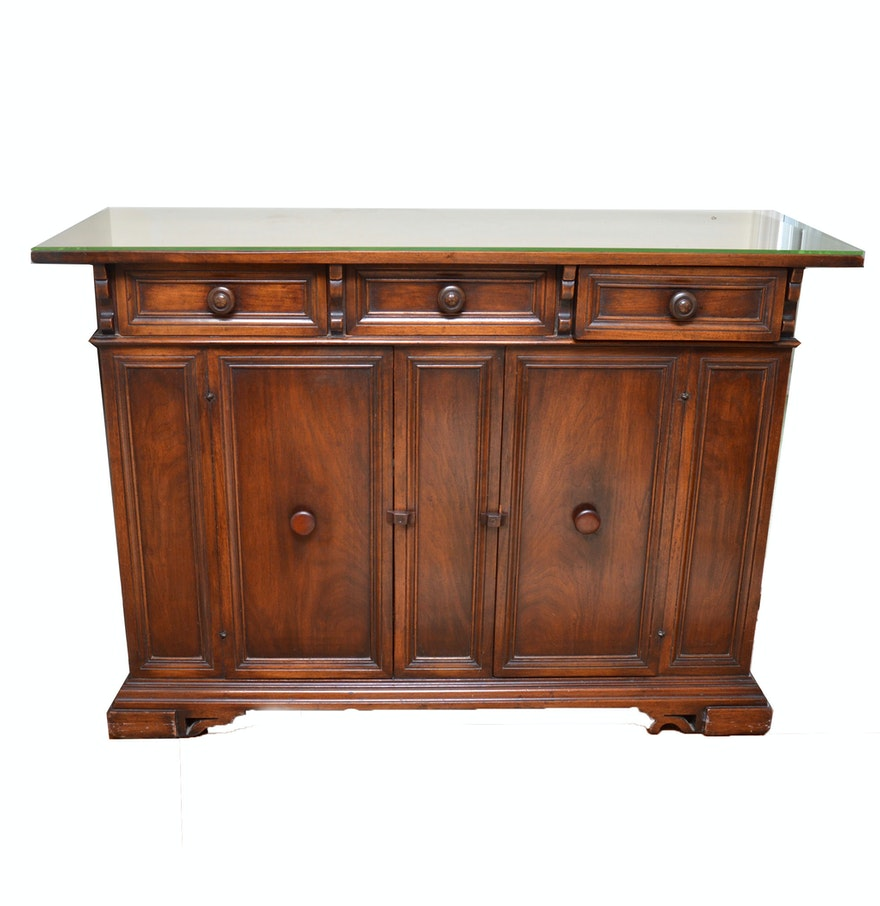 Vintage cherry wood sideboard buffet ebth