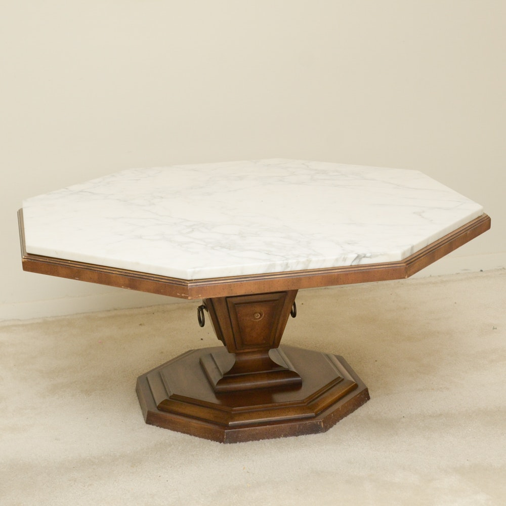 Weiman Octagon Coffee Table With Marble Top ...