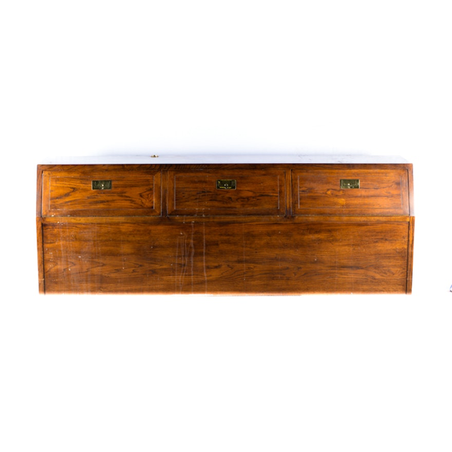 Oak King Size Headboard Storage Cabinet