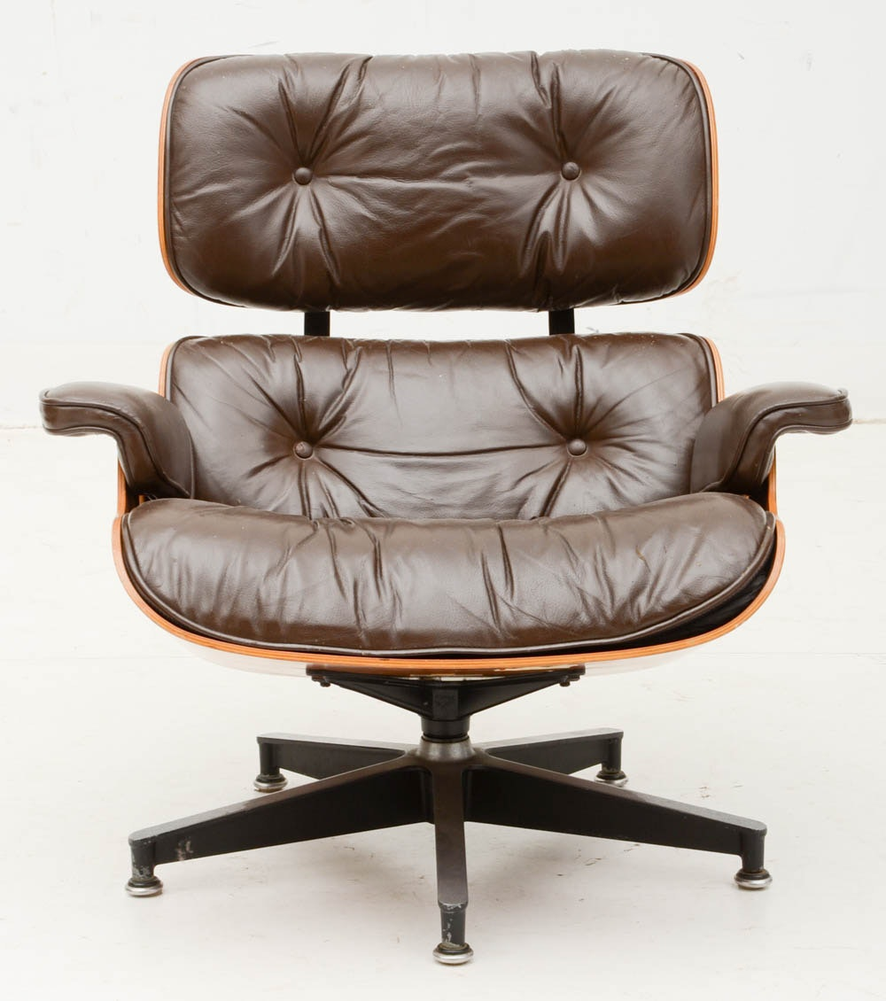 1970s Eames Leather 670 Lounge Chair And 671 Ottoman By