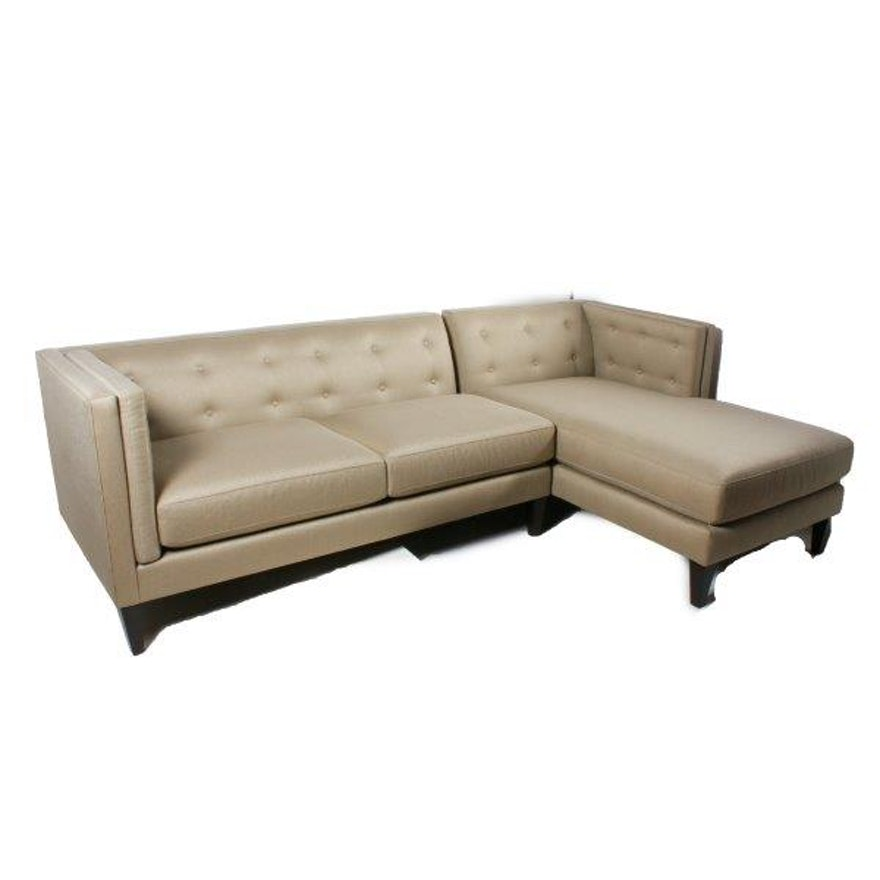 Terrific Crate Barrel Aiden Sectional Sofa Gmtry Best Dining Table And Chair Ideas Images Gmtryco