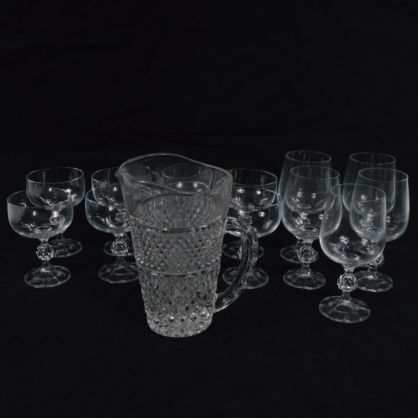 Assortment of Cut Glassware