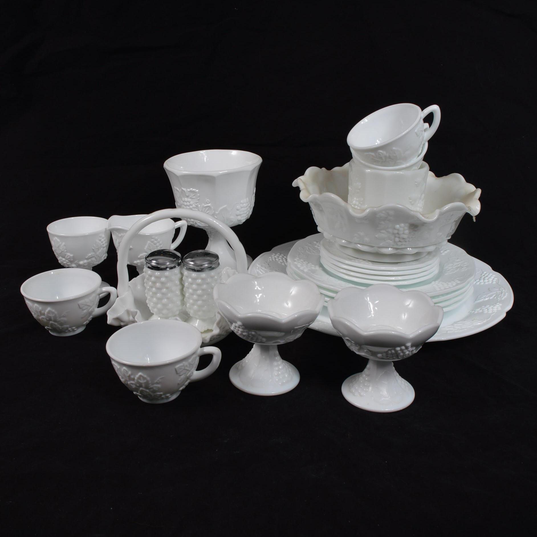 Milk Glass Dining Set