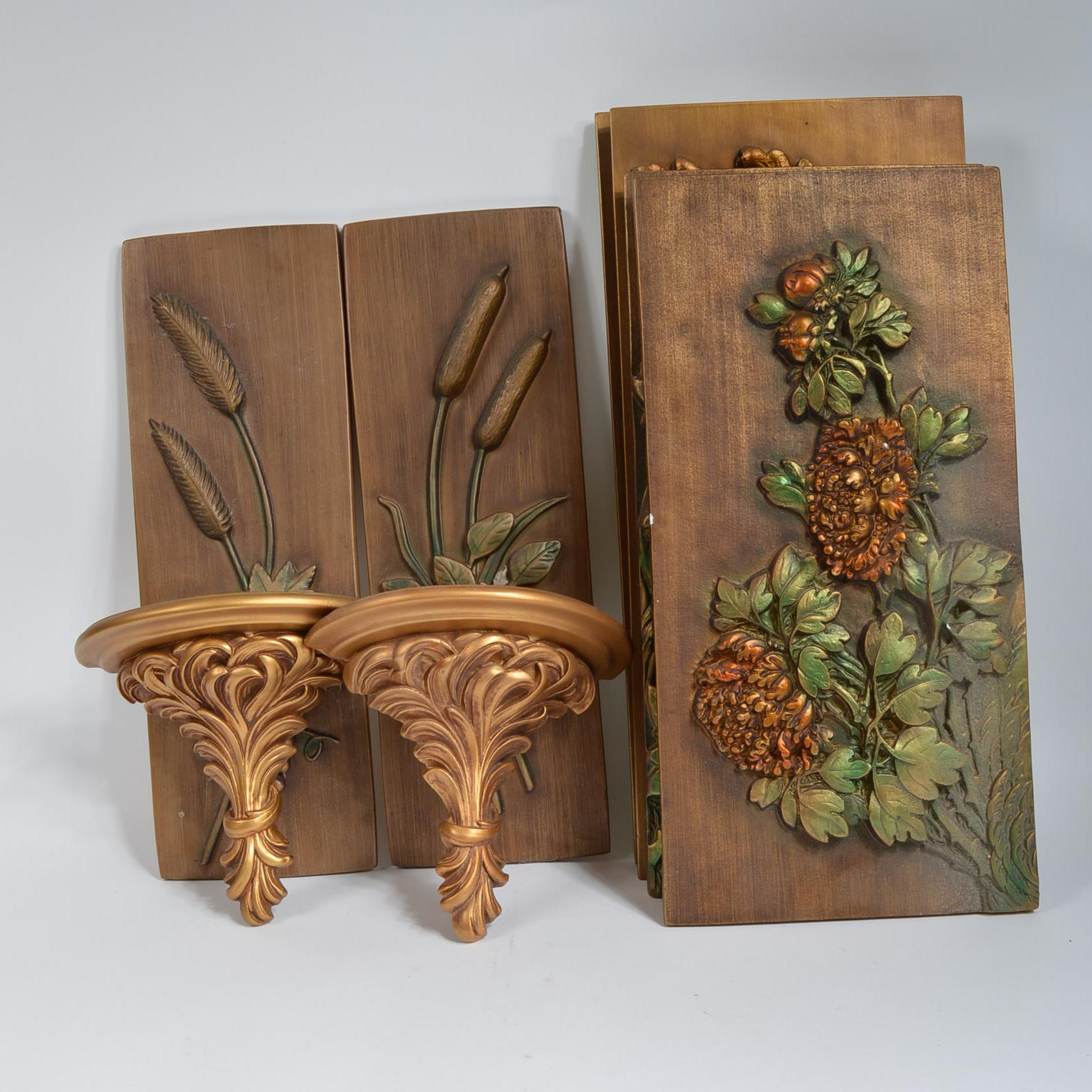 Plaster decoration with floral pattern 85