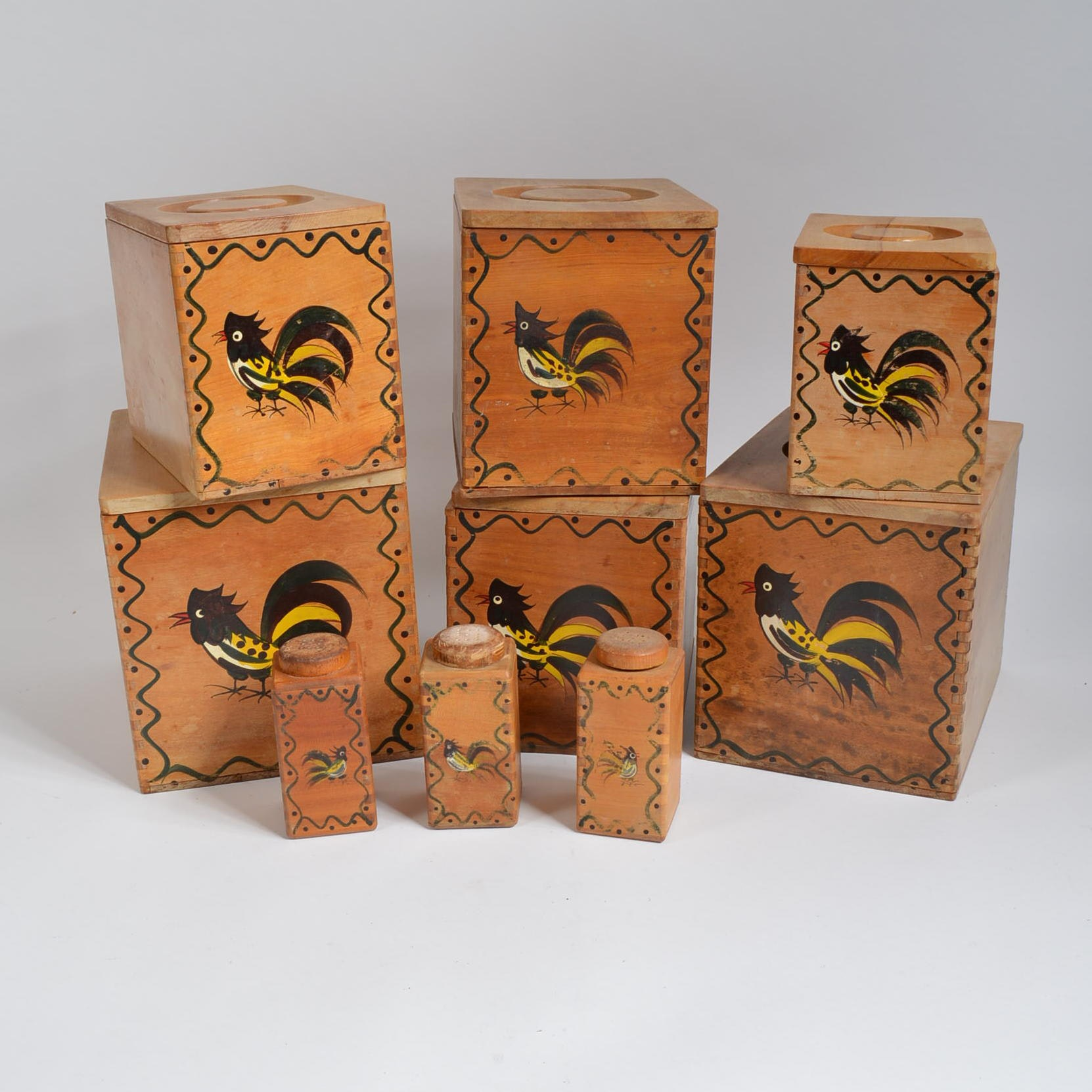 Wooden Rooster Boxes