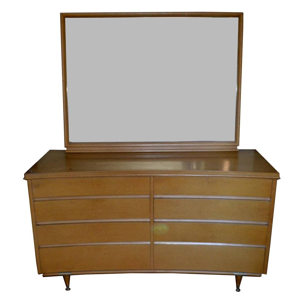 Mid Century Modern Dresser With Mirror By Stanley Ebth