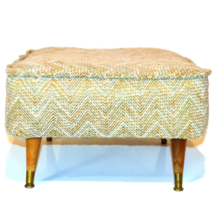 multicolored upholstered ottoman  ebth - multicolored upholstered ottoman