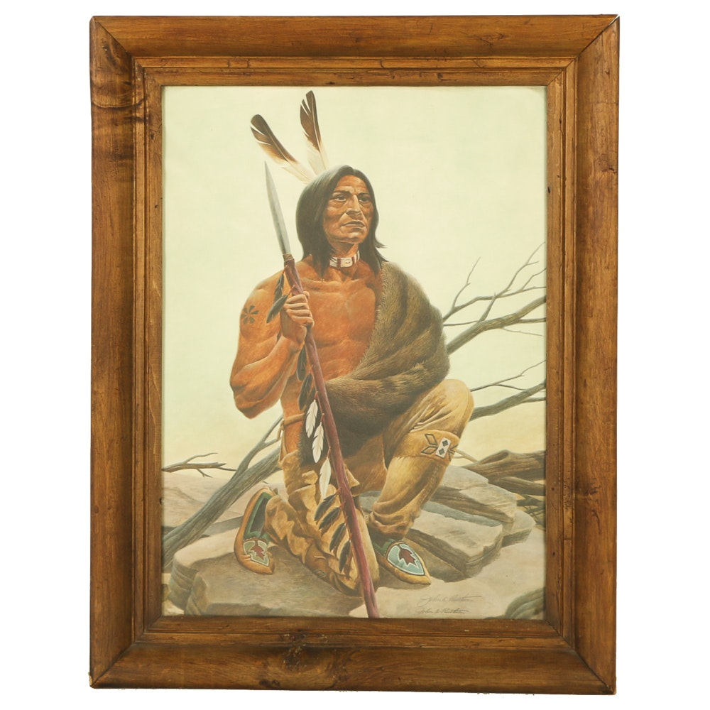"John A. Ruthven Offset Lithograph ""Miami Indian"""