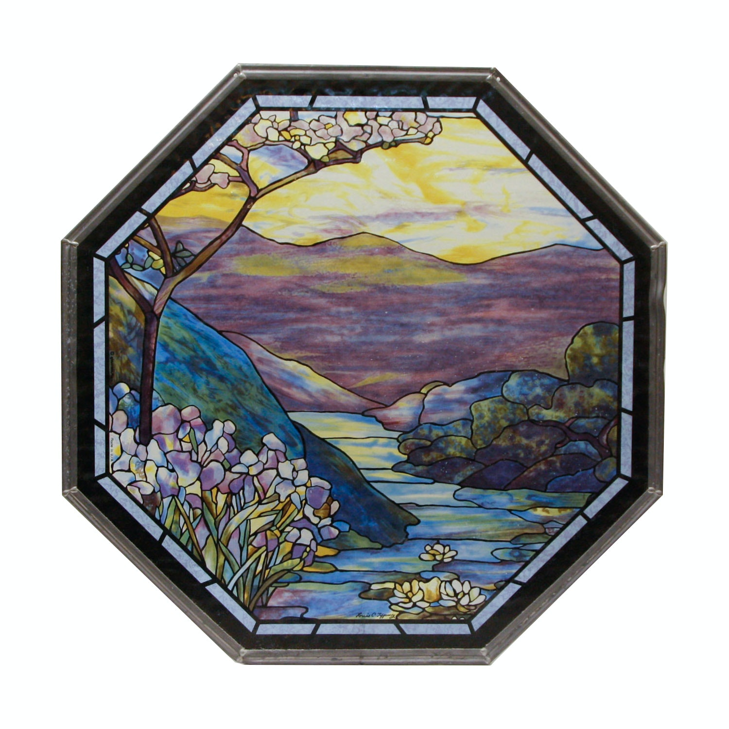 Reproduction Louis C. Tiffany Octagonal Panel