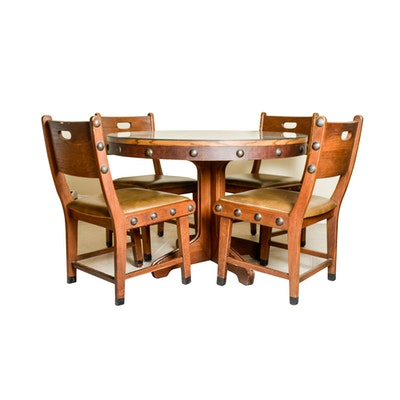 Vintage Card Table And Chairs By Louis Rastetter And Sons
