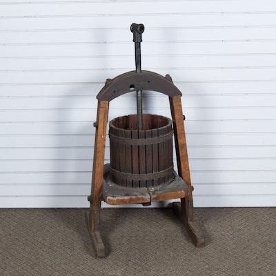 Antique Eagle Machine Co. Wine Press