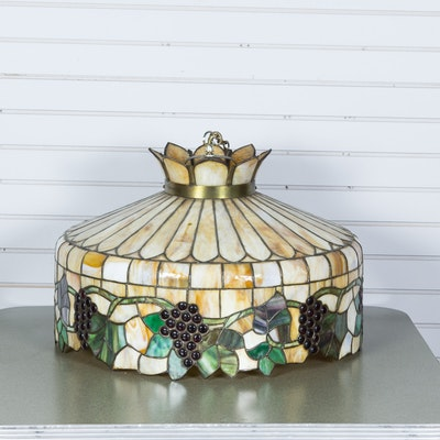Vintage Stained Glass Ceiling Lamp